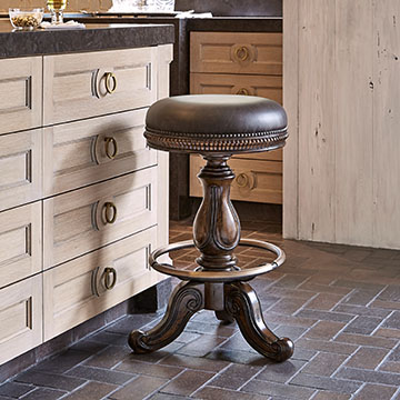 Davis Swivel Barstool - Dark
