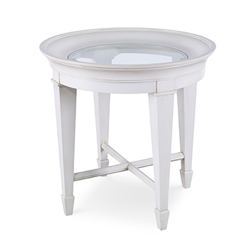 Luna End Table - Linen