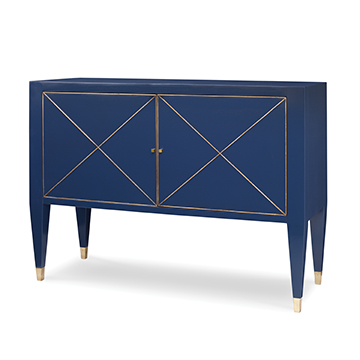 Beaumont Cabinet - Cadet Blue w/ Gold St