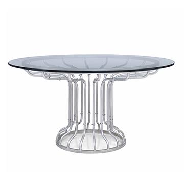 Café Dining Table Base - Antique Silver