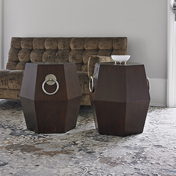 Hexagonal Accent Table - Dark