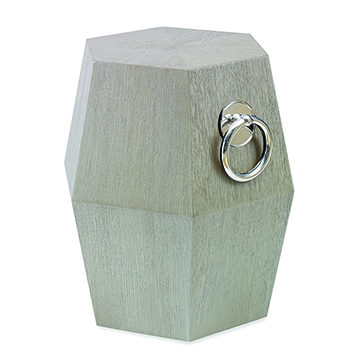 Hexagonal Accent Table - Champagne