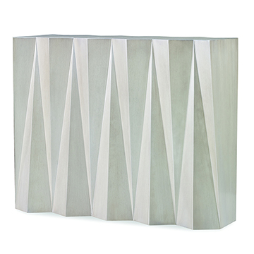 Accordion Console Table - Champagne