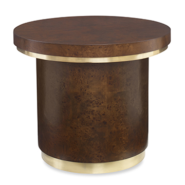 Burl Round End Table