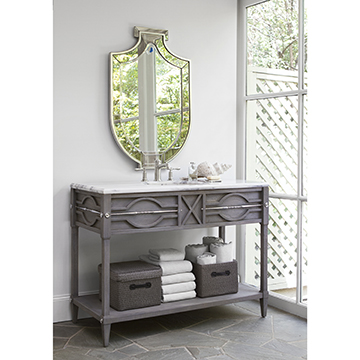 Spindle Sink Chest - Weathered Grey