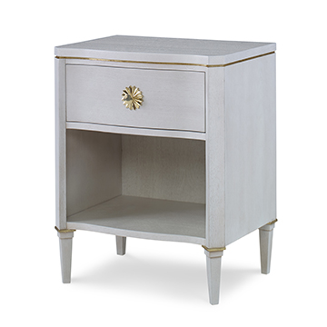 Halley Nightstand - White Dove