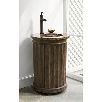 Column Pedestal Sink Chest - Dark Grey