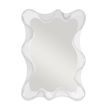 Scalloped Mirror - White