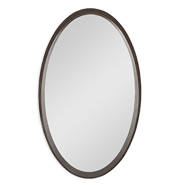 Oval Orbit Mirror - Walnut