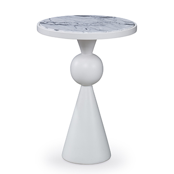 Minaret Accent Table - White
