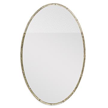 Bamboo Oval Mirror