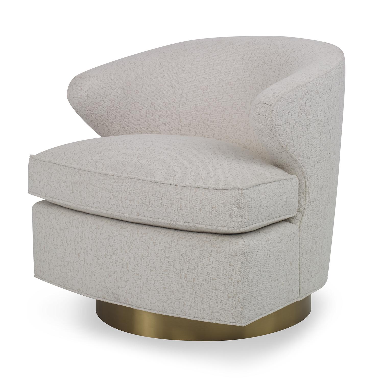 Scoop Swivel - Brass Base Chair