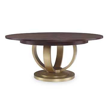 "Paris Dining Table (84"") -Gold Leaf Base"