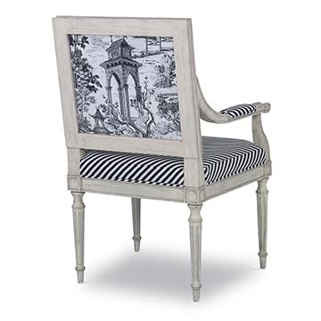 Louis Arm Chair Plain Back