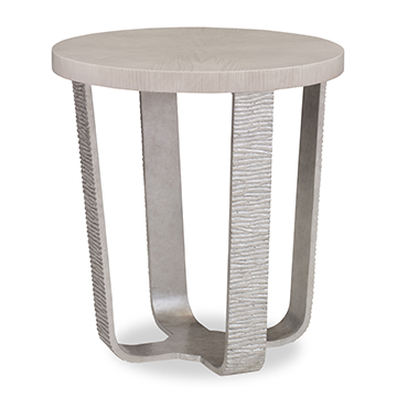 Radiant End Table - White Dove