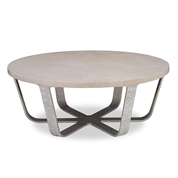 Radiant Cocktail Table - White Dove