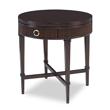 Reeded Side Table - Round