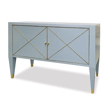 Beaumont Cabinet - Polar Blue w/ Gold