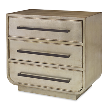 Bowed Nightstand - French Gold