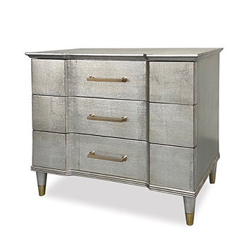 Valmont Nightstand - Satin Ant Silver
