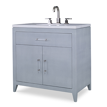 Shagreen Sink Chest - Polar Blue