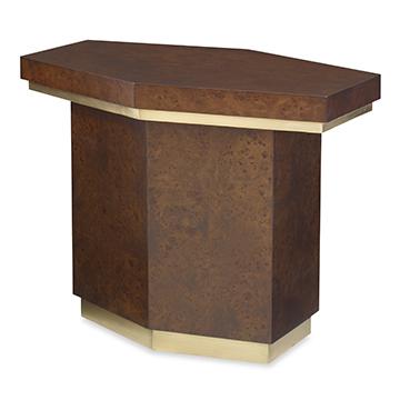 Burl End Table