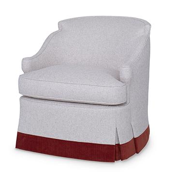 Barbara Swivel Chair - Skirted