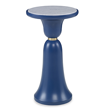 Bell Accent Table - Blue