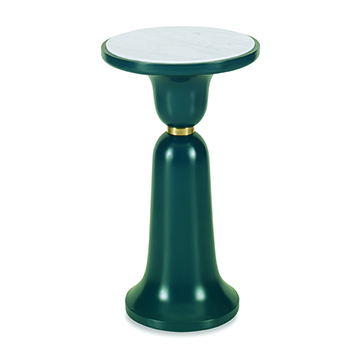 Bell Accent Table - Peacock