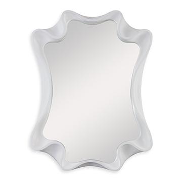Scalloped Mirror - Bright White