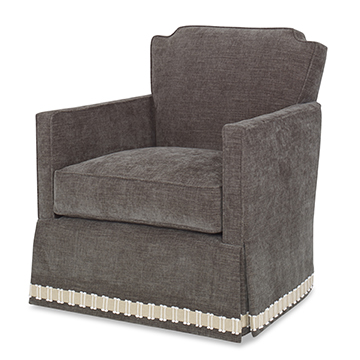 Elise Swivel Chair -Skirted