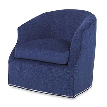 Calvert Swivel Chair - Plain Back