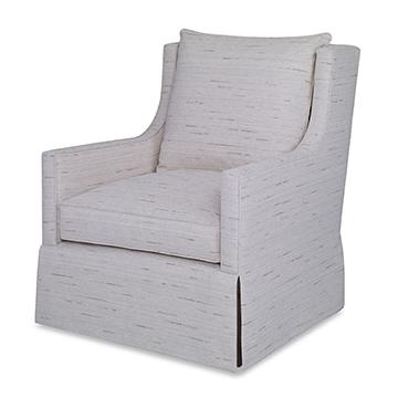Callum Swivel Chair - Skirted